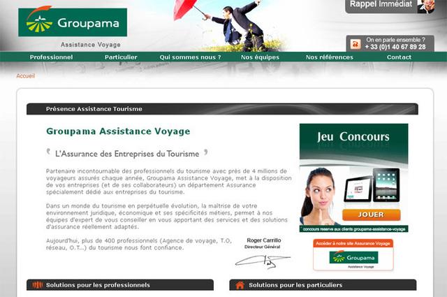 Groupama Assistance Voyage a lancé un nouveau site dédié aux entreprises de tourisme - DR