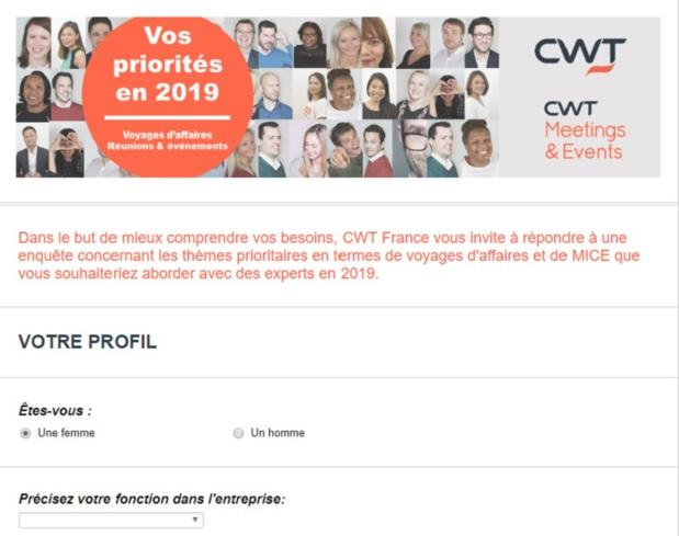 CWT France enquête sur les priorités 2019 dans le voyage d'affaires