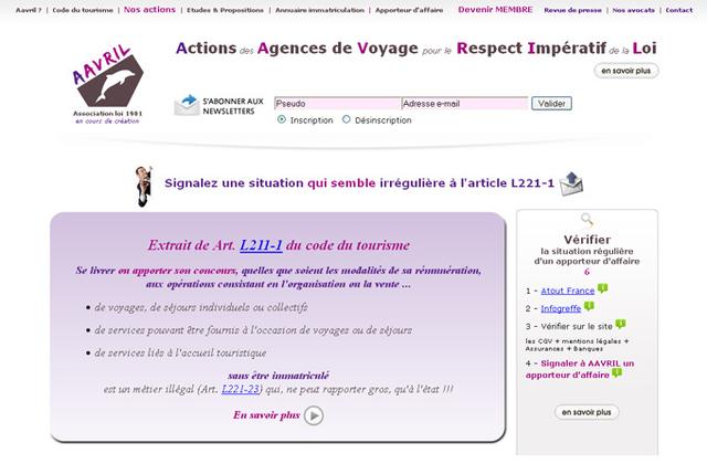 Aavril se réserve le droit d'assigner en justice les opérateurs qui, sans être immatriculé auprès d'Atout France sont en situation d'exercice illégal - DR