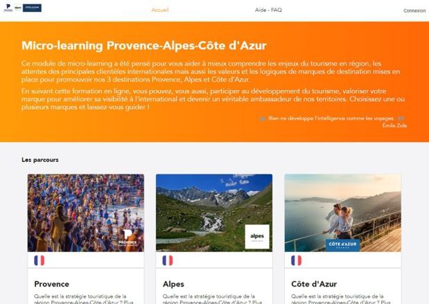 Le site de formation en ligne lancé par le CRT PACA - DR