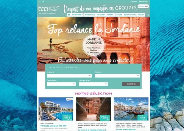 Le site regroupe l'ensemble des offres et les nouveautés telle que la production groupe sur la Jordanie dès 2019 - DR : Top of Travel