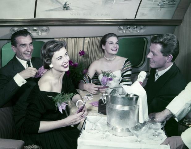 Au début des années 50, Air France, qui rayonne sur le monde, ne dessert le domestique qu'en fonction des correspondances de sa clientèle internationale - DR : Collection Musée Air France