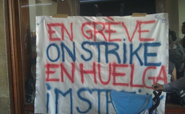 Les salariés de Cityrama sont en grève, mardi 12 juillet 2011, pour protester contre la politique de LBO France - DR