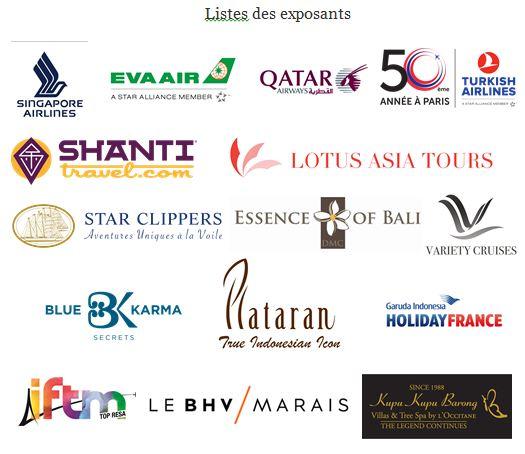 Liste des exposants présents aux deux workshops à Lyon et Paris - DR