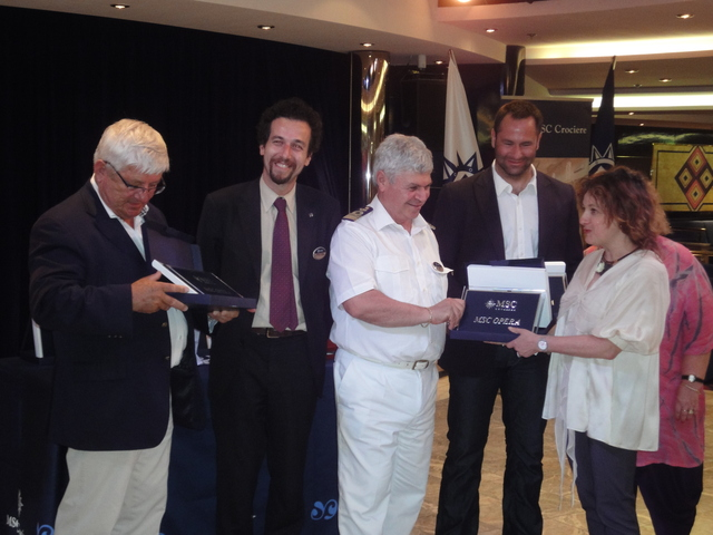 Le président Blanchard, Erminio Eschena, le commandant Ponte, Nicolas Gauthier