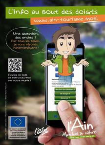 Ain : l''offre touristique sur les smartphones