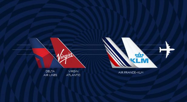 Les clients de Virgin Atlantic peuvent désormais réserver jusqu'à 58 routes transatlantiques supplémentaires depuis 18 aéroports britanniques sur Air France et KLM - DR