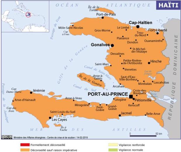 La carte du Ministère de l'Europe et des Affaires Etrangères - DR MEAE