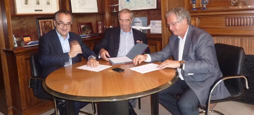 Lionel Guérin, Président de la FNAM, Georges Colson, Président du SNAV, René-Marc Chikli, Président du Ceto