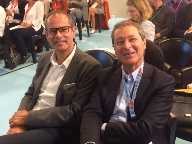 Pascal de Izaguirre et Patrice Caradec en septembre 2016 à l'IFTM Top Resa - Photo AB