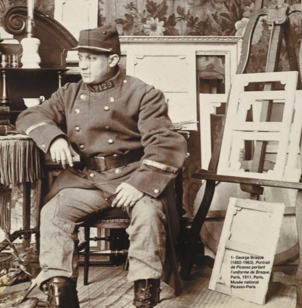 Malgré sa vareuse, Picasso n'a jamais été militaire mais il a beaucoup oeuvré pour la paix. /crédit photo Musée militaire