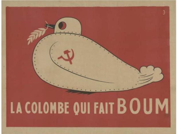 Les colombes ne sont pas toujours symboles de paix... /crédit photo Musée militaire
