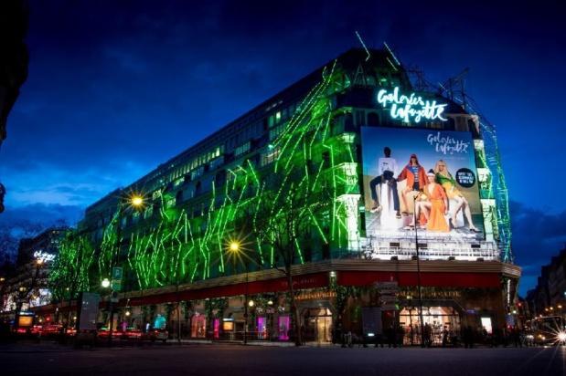Les Galeries Lafayette Haussmann s'illumineront en vert à partir du 13 mars - DR : Tourisme Irlandais