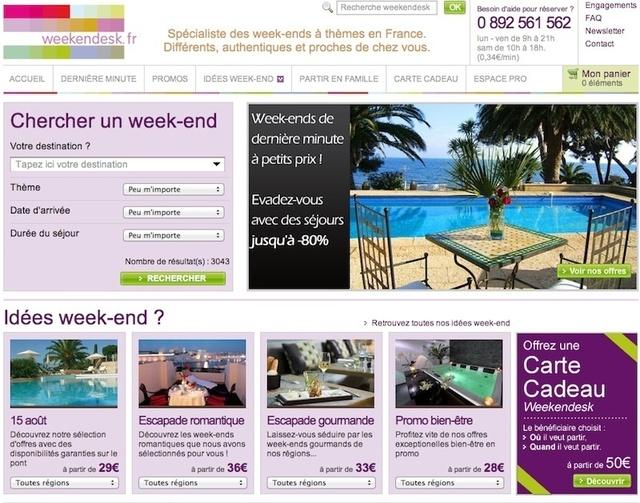 Les ventes se font à, au moins 85% en direct sur le web. Weekendesk enregistre un trafic d'un million de visiteurs uniques par mois.