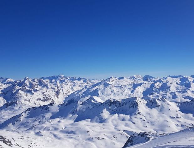 Le domaine de Tignes - Val D'Isère vue du glacier de Tignes - Photo CE