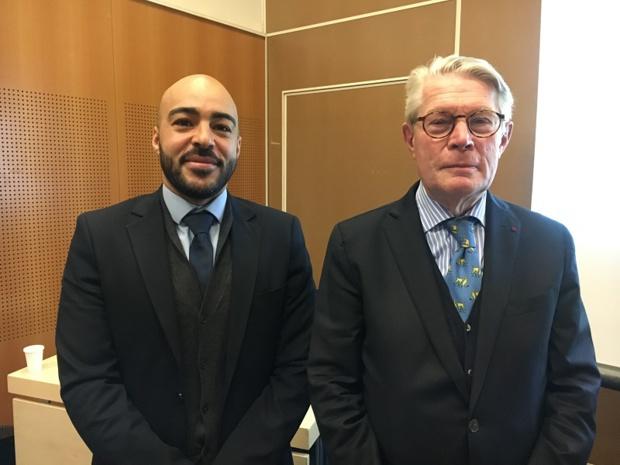 Khalid El Wardi, secrétaire général et Jean-Pierre Teyssier, le médiateur, ont présenté le rapport annuel de la Médiation Tourisme et Voyage au Salon mondial du tourisme jeudi 14 mars 2019.  - CL