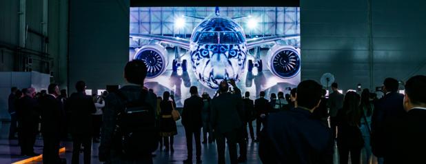 Le premier appareil E2, qui arbore une livrée spéciale Léopard des neiges, avait été livré à Air Astana en décembre 2018. - Photo Air Astana