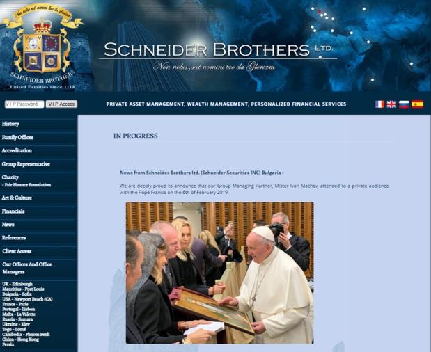 Ivan Machev, associé de Schneider Brothers, est-il venu se confesser ? Ou peut-être demander un appui suite aux différentes plaintes auxquelles la compagnie est confrontée... - DR : Capture d'écran Schneider Brothers