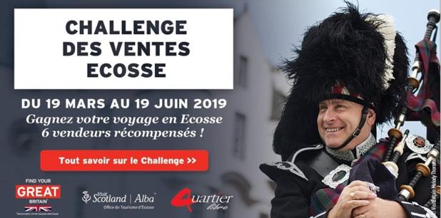 L'inscription au challenge n'est pas nécessaire, le premier dossier Ecosse sur la période du challenge inscrira l'agence automatiquement - Photo DR