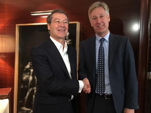 Pascal de Izaguirre, PDG de Corsair et Peter Oncken, directeur général d'Intro Aviation - DR : C.L.