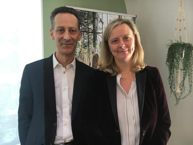 Pascal Ferracci, directeur général Center Parcs Europe et Vanessa Diriat, directrice générale Center Parcs France. - CL