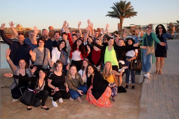 Lors de l'éductour inaugural du Mondi Club Coral Beach Hurghada**** (18 au 22 février 2019), plusieurs agences groupistes étaient présentes, en plus des agences traditionnelles - DR : Mondial Tourisme