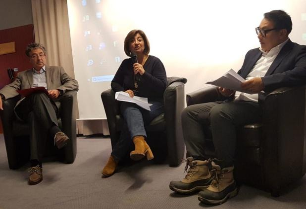 Jean-François Michel (Cap Monde), Valérie Boned (EDV) et Georges Pham Minh lors de la table ronde sur le lobbying - DR CE