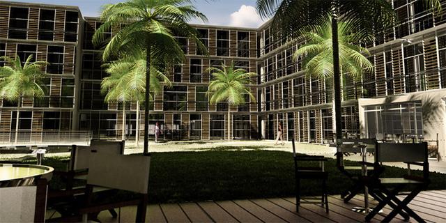 Façades et terrasse intérieures du futur hôtel Ducasse - DR