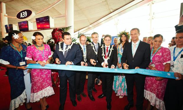 A l'inauguration du nouveau Dreamliner d'Air Tahiti Nui, mardi 26 mars à Paris-CDG © ATN