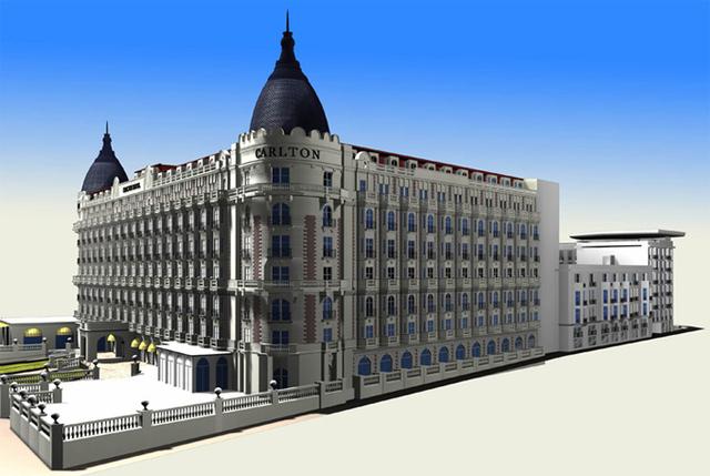 Le projet prévoit la rénovation et la mise en conformité de l'hôtel et une extension à l'arrière du bâtiment actuel - DR