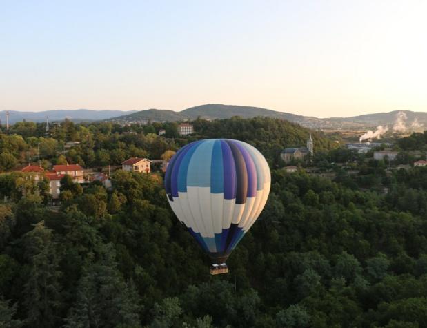 C'est à Annonay, en 1783, que Joseph et Etienne de Montgolfier ont fait décoller pour la première fois une montgolfière - DR : J.-F.R.