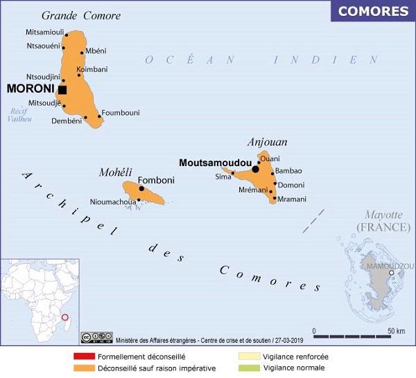 Comores : le Quai d'Orsay recommande de reporter les déplacements - crédit photo : France-Diplomatie