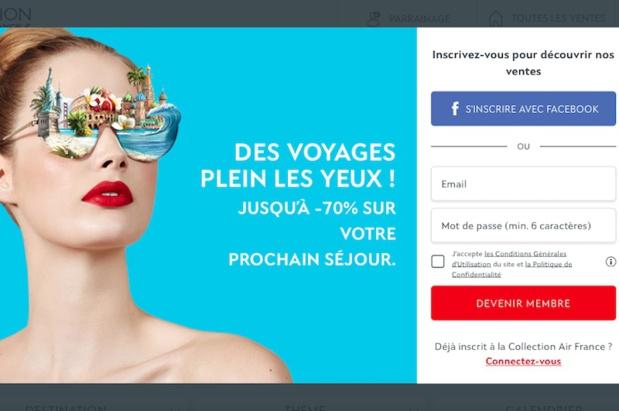 Air France propose des ventes privées sur son site Collection Air France - DR