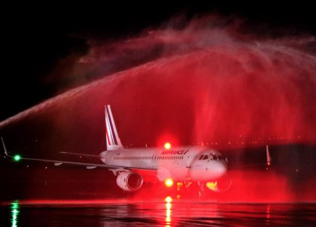 Arrivée du vol AF1760 à Tbilissi, dimanche 31 mars 2019 au soir - DR : Air France
