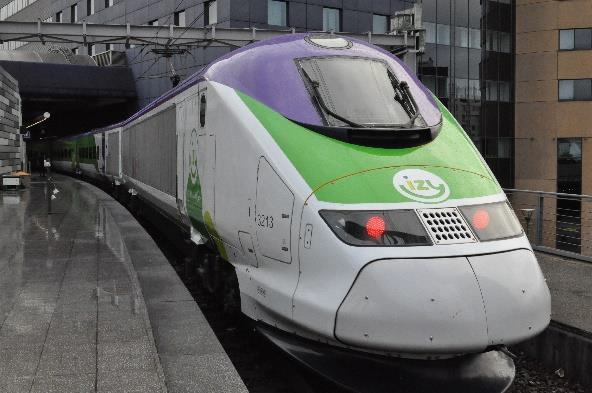 En 2018, IZY a transporté 430 000 voyageurs (+6,3%) - DR : Thalys