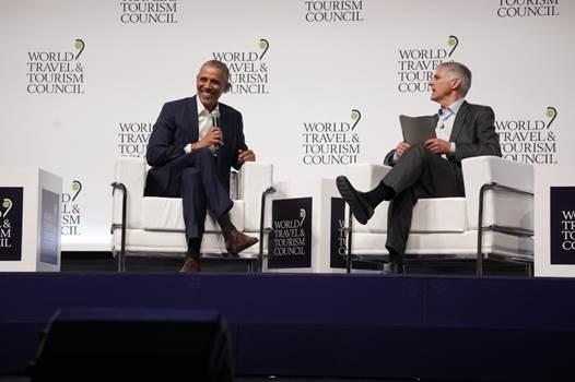 Barack Obama au WTTC à Séville - DR