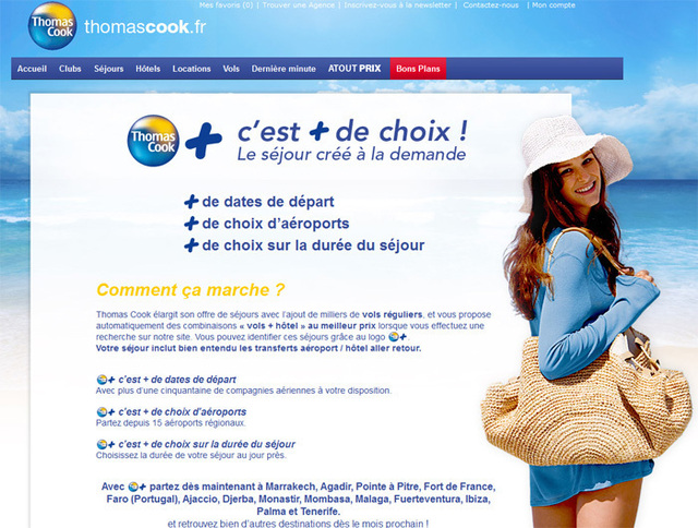 Thomas Cook déploie le package dynamique « Thomas Cook + »