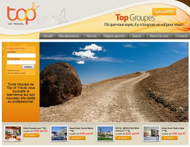 Le nouveau site de Top of Travel dédié aux groupes