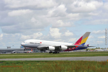 A380 d'Asiana Airlines à l'atterrissage