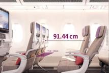 Pitch de 91.44cm pour les 36 Sièges Economy Smartium sur A350