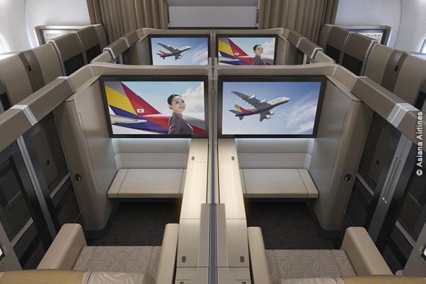 Les produits proposés par Asiana Airlines