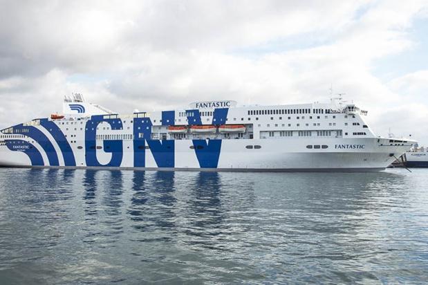 Le voyage de découverte des services GNV s'est déroulé à bord du bateau « Le Fantastic » qui peut embarquer 2 033 passagers - DR : GNV