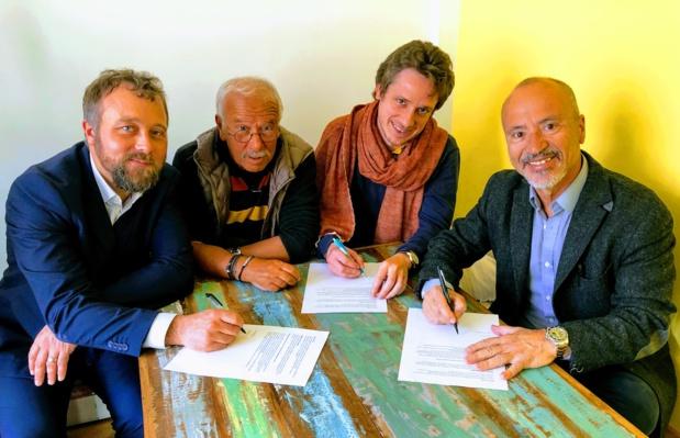 De gche à dte : Julien Buot, Christian Orofino, Nicolas Tranchant et Jean da Luz