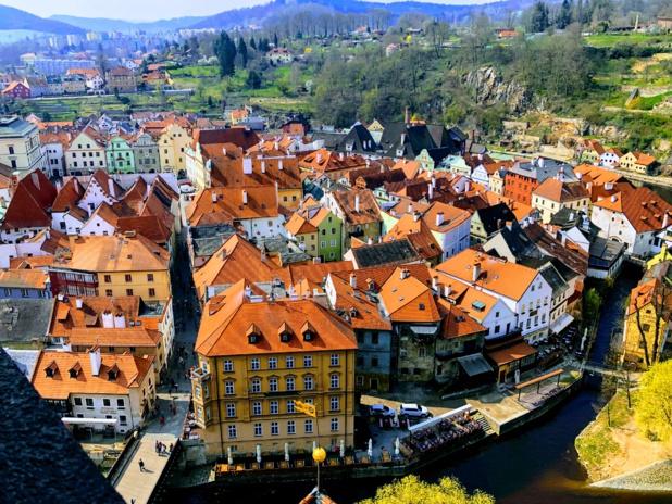 Český Krumlov, merveille de petite ville médiévale, classée à l'Unesco /crédit photo JDL