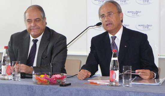 Bernard Lambert, directeur et Jean-Luc Biamonti, président de la SBM maintiennent le cap d'une politique d'investissements même si la conjoncture ne prête par à l'optimisme