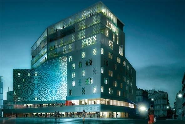 """Le complexe sera composé d'un hôtel """"Golden Tulip"""" (4*) de 100 chambres et d'un hôtel """"Campanile"""" (3*) de 70 chambres, le tout dans une architecture contemporaine et design - DR"""