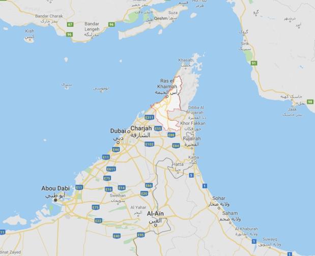 Accord signé le 11 avril 2019 entre L'Autorité de développement du tourisme de Ras el Khaïmah et l'ECTAA - DR Google Maps
