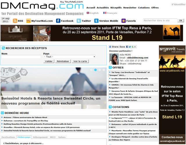 DMCmag.com : un nouveau portail dédié aux réceptifs français et étrangers