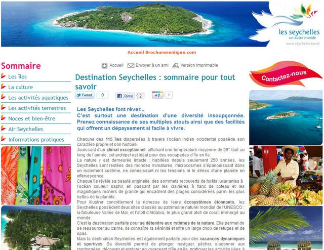 Nouveau : dossier destination Seychelles dédié aux pros du tourisme