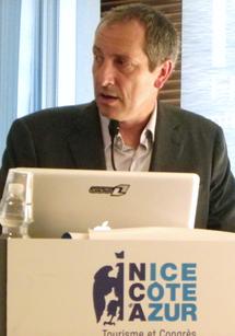 Pour Denis Zanon, directeur de l'OT de Nice, la politique pour 2012 est de cibler la clientèle, avec, pour chacune d'entres elles, un évènement annuel - DR